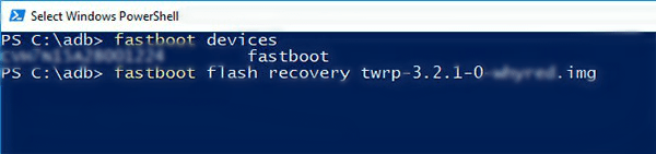 TWRP Recovery on Android Devices using Fastboot