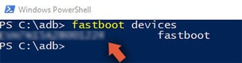 Fastboot device