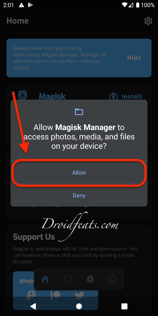 Root Android 11 using Magisk canary